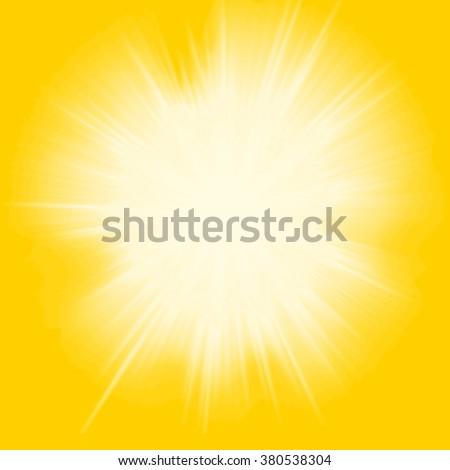 grunge orange background with sunlight - stock photo