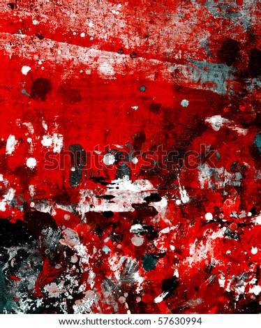 grunge paint - stock photo