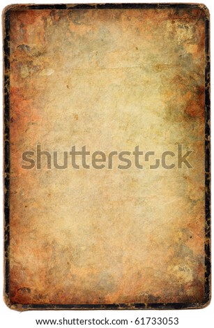 grunge paper (isolated) - stock photo
