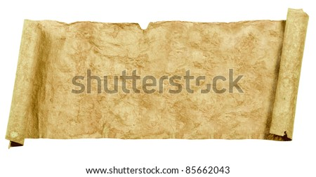 Grunge papers and scrolls - stock photo