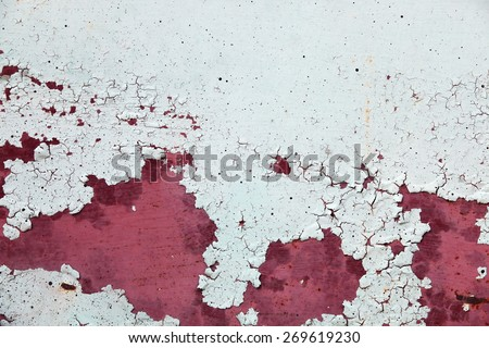 grunge peeling zinc wall as background. - stock photo