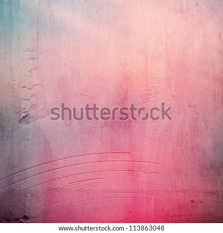 grunge pink paper texture, distressed background - stock photo