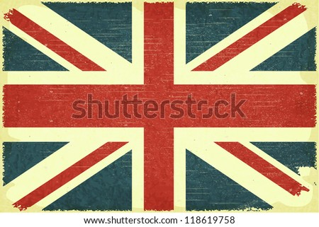 Grunge poster - British flag in Retro style - JPEG version - stock photo