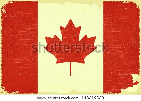 Grunge poster - Canadian flag in Retro style - JPEG version