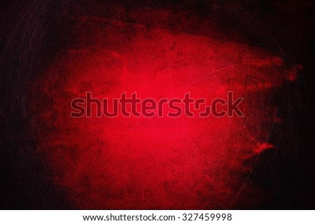 Grunge red background with black edges - stock photo