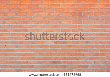 Grunge red brick wall background outside the building - stock photo