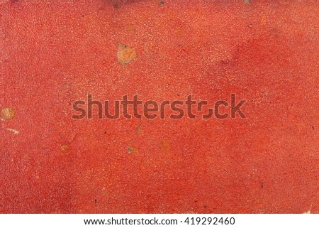 grunge red cardboard cover of old book texture background - stock photo