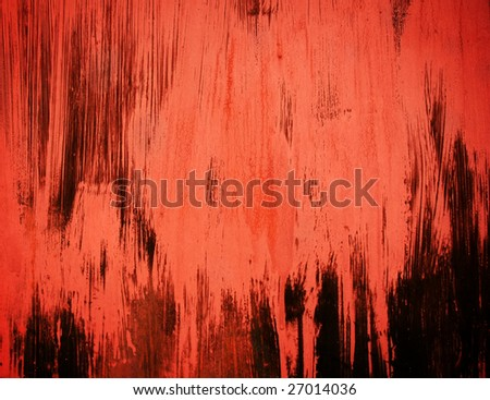 grunge red metal plate - stock photo