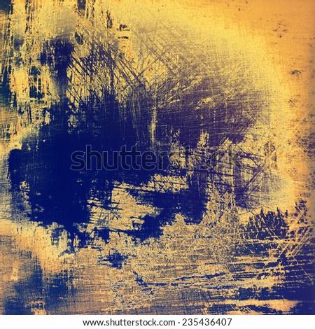 Grunge retro vintage texture, old background. With different color patterns: blue; brown; yellow
