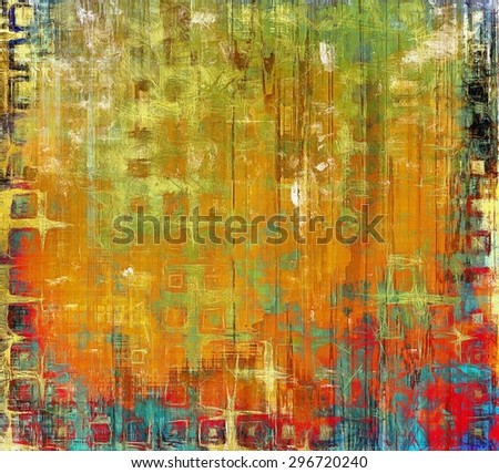 Grunge retro vintage texture, old background. With different color patterns: yellow (beige); blue; green; red (orange) - stock photo