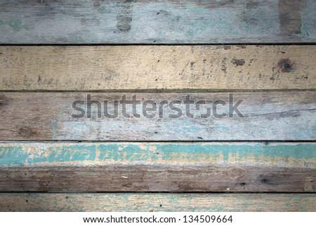 Grunge retro wood background - stock photo