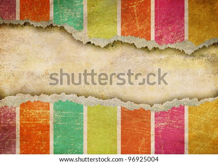 Grunge ripped paper background - stock photo