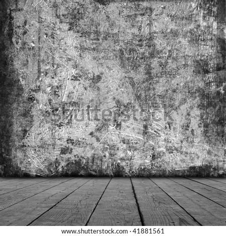Grunge rood  interior - stock photo