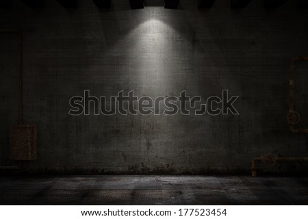 Grunge room - stock photo