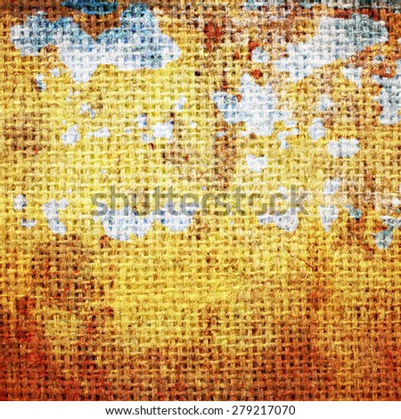Grunge rough linen texture. - stock photo