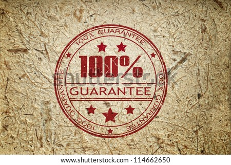grunge rubber ink stamp guarantee - stock photo