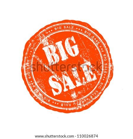 Grunge rubber stamp big sale - stock photo
