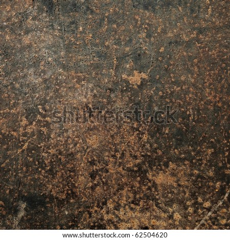 Grunge rust metal plate (Industrial iron background) - stock photo