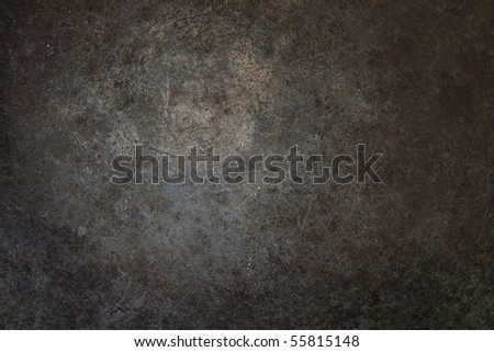 Grunge rust metal surface with vignette. - stock photo