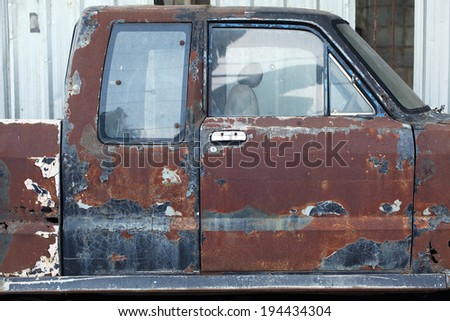 grunge rusty car - stock photo