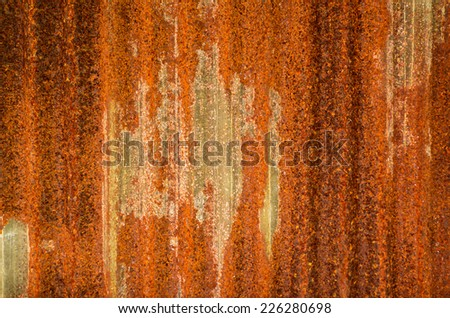 Grunge Rusty galvanized background - stock photo