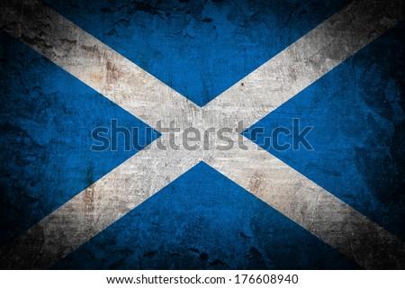 Grunge Scotland flag  - stock photo