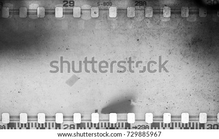 Grunge scratched dirty film strip background with blurred effect.