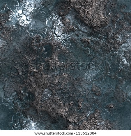 grunge silver metal seamless background - stock photo