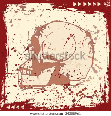 Grunge Skull Background (in the gallery also available vector version of this image)