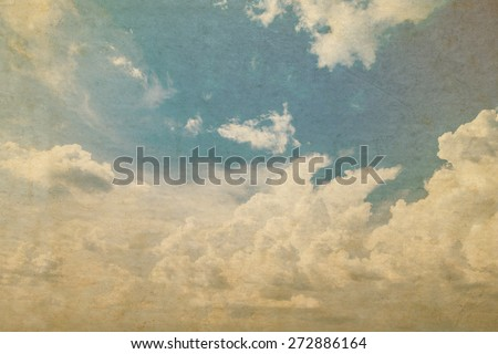 Grunge sky background with space for text
