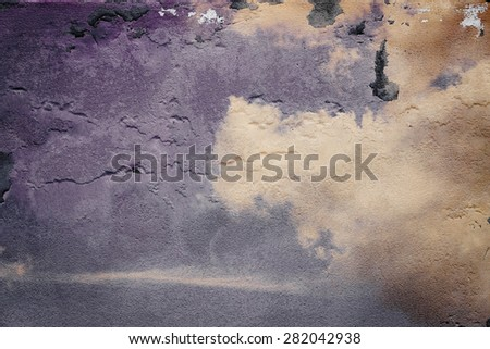 Grunge sky wall texture background. - stock photo