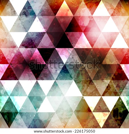grunge space color triangle seamless texture (raster version)