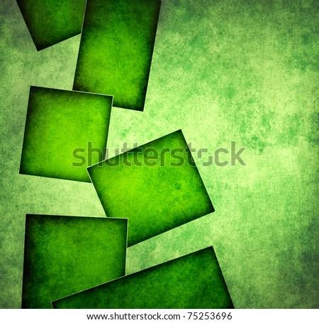 Grunge square background - stock photo
