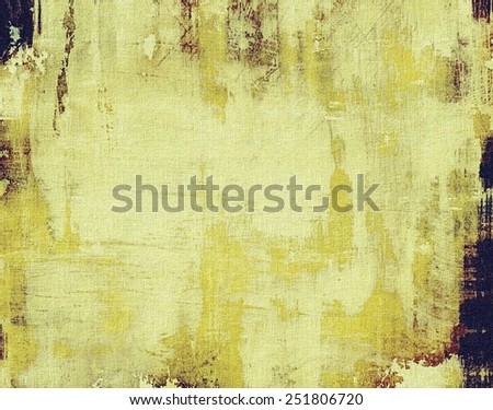 Grunge stained texture, distressed background with space for text or image. With different color patterns: yellow (beige); gray; black - stock photo