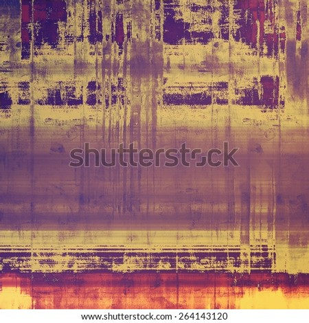 Grunge stained texture, distressed background with space for text or image. With different color patterns: yellow (beige); purple (violet); pink - stock photo