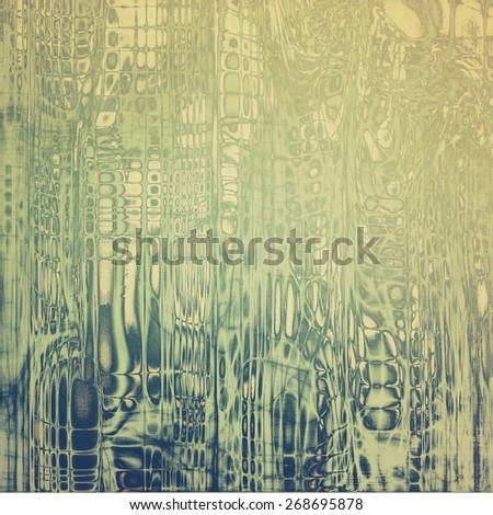 Grunge stained texture, distressed background with space for text or image. With different color patterns: green; gray; yellow (beige) - stock photo
