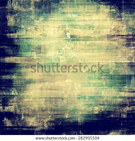 Grunge stained texture, distressed background with space for text or image. With different color patterns: yellow (beige); gray; green; blue - stock photo