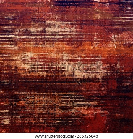 Grunge stained texture, distressed background with space for text or image. With different color patterns: yellow (beige); brown; gray; red (orange) - stock photo