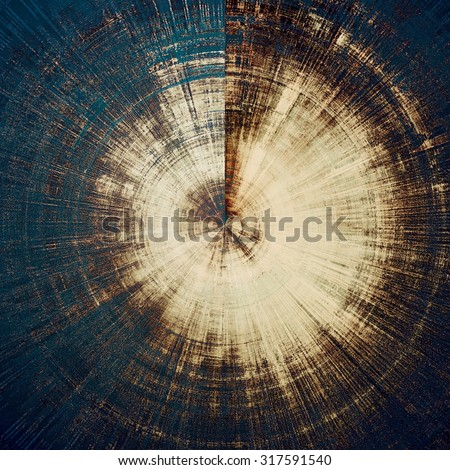 Grunge stained texture, distressed background with space for text or image. With different color patterns: yellow (beige); brown; blue; black - stock photo
