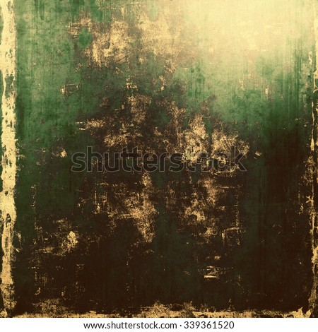 Grunge stained texture, distressed background with space for text or image. With different color patterns: yellow (beige); brown; black; green - stock photo