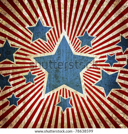 Grunge star metal rusty america pattern independent day - stock photo