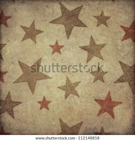 Grunge Star Pattern Background with space or text or image - stock photo