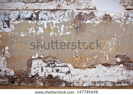 Grunge stone wall background - stock photo