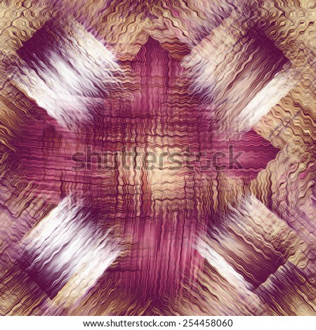 Grunge striped and wavy checkered background in violet,brown,white colors - stock photo