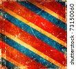 Grunge stripes background - stock vector