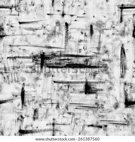 grunge strokes seamless pattern - stock photo