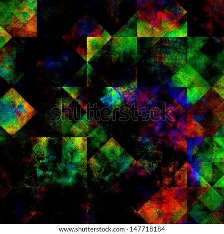grunge style artistic colorful splash background with dark and vibrant colors - stock photo