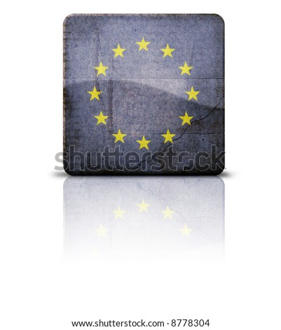 Grunge style flag of European Union
