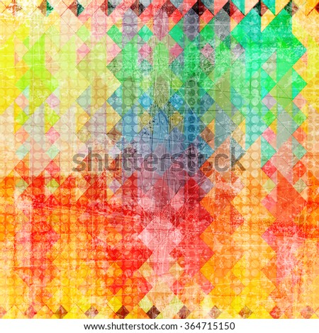 Grunge style old fashioned colorful vintage background - stock photo