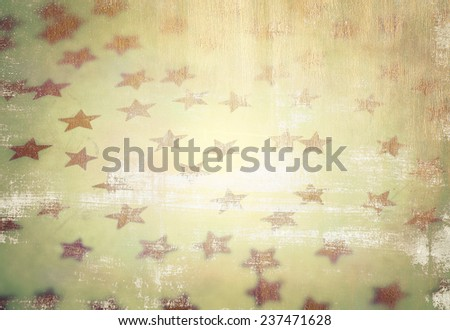 Grunge style photo of beautiful starry background, vintage stylish wallpaper, fashionable Christmas decoration - stock photo
